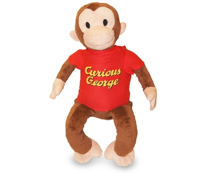"""Curious George (Plush / Pillow / Blanket) - 19"""" Monkey by Zoobie Pets"""