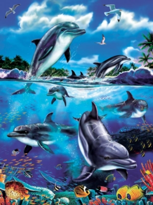 Cobble Hill Jigsaw Puzzles - Dolphin Family