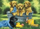 Puppy Bath - 60pc Jigsaw Puzzle by Cobble Hill