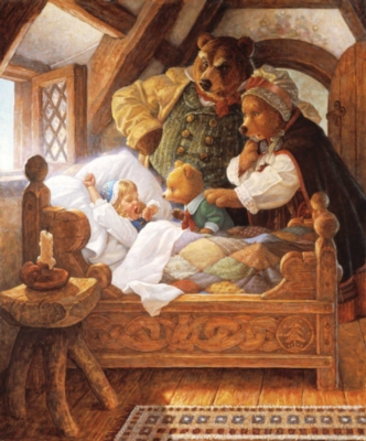 Goldilocks and the Three Bears - 1000pc Story Book Box Jigsaw Puzzle by Masterpieces
