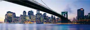 New York - 1000pc Panoramic Jigsaw Puzzle by Clementoni