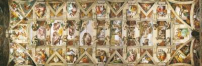 Sistine Chapel - 1000pc Panoramic Jigsaw Puzzle by Clementoni