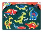 Dinosaurs - 6pc Wooden Peg Puzzle by Melissa & Doug