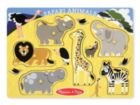 Safari Animals - 6pc Wooden Peg Puzzle by Melissa & Doug