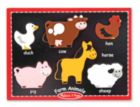 Farm Animals - 6pc Chunky Wood Puzzle by Melissa & Doug