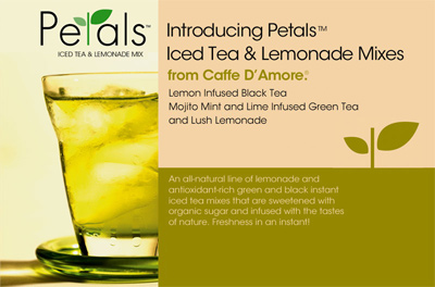 Caffe D'Amore Petals Iced Tea & Lemonade - 2.5 lb. Bulk Bag Assorted Case