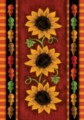 Sunflower Trio - Standard Flag by Toland