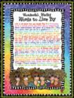 Wonderful Wacky Words to Live By - 550pc Jigsaw Puzzle by White Mountain