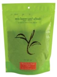 Two Leaves Tea: Organic Mountain High Chai - 1/2 lb. Loose Tea in a Resealable Sleeve Case