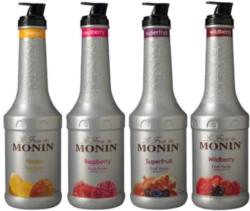 Monin Fruit Puree: (Blackberry, Raspberry, Wildberry) - 1L Plastic Bottle Assorted Case