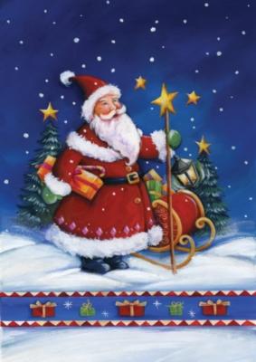 Santa's Night - Standard Flag by Toland