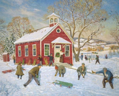 Hard Jigsaw Puzzles - The Olde Country School