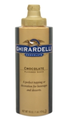Ghirardelli Black Label Chocolate Sauce - 12 fl. oz. Squeeze Bottle Case