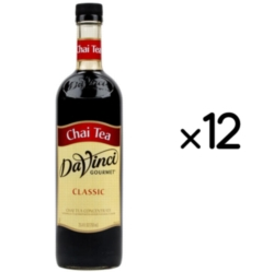 Davinci Chai Tea Concentrate - 750 ml. Glass Bottle Case