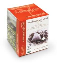 Two Leaves Tea: Organic Mountain High Chai - 6 Boxes of 15 Tea Sachets
