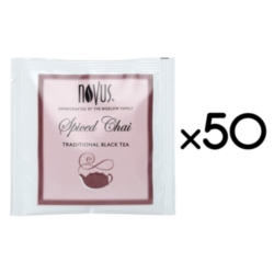 Novus Handcrafted Tea - Spiced Chai - Case of 50 Individually Wrapped Tea Bags