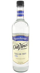 Davinci Sugar Free Sweetener w/ Splenda® - 750 ml. Glass Bottle Case