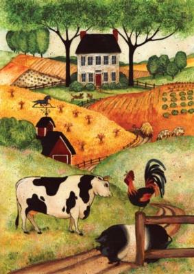 Farm Gathering - Standard Flag by Toland
