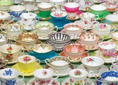 Hard Jigsaw Puzzles - Tea Cups