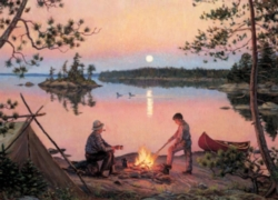 Cobble Hill Jigsaw Puzzles - Georgian Bay Moonrise