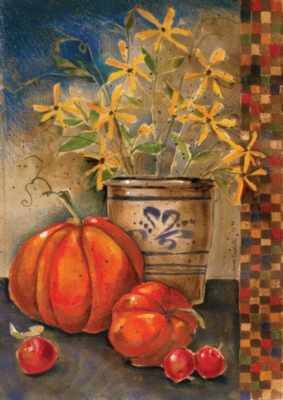 Fall Crock - Garden Flag by Toland
