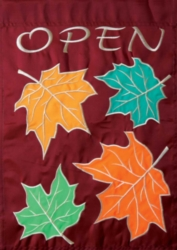 Fall Open - Standard Applique Flag by Toland