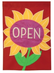 Open Flower - Standard Applique Flag by Toland
