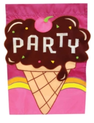 Party Ice Cream - Garden Applique Flag by Toland