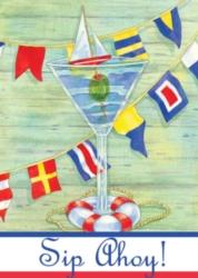 Sip Ahoy - Garden Flag by Toland