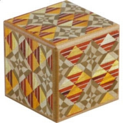 Wooden Puzzle Box - Japanese - Karakuri Small Box #1: KTY
