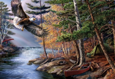 Boundary Eagle - 500pc Jigsaw Puzzle by Great American Puzzle Factory