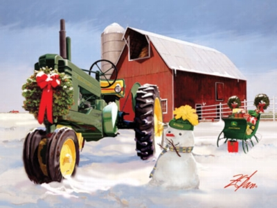 John Deere: Christmas on the Farm - 500pc Jigsaw Puzzle by Masterpieces