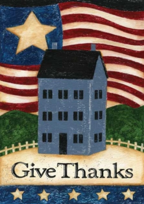Give Thanks - Garden Flag by Toland
