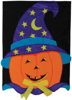 Magic Pumpkin - Standard Applique Flag by Toland
