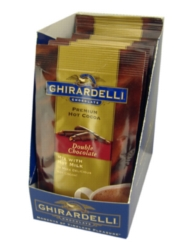 Ghirardelli Premium Hot Cocoa: Double Chocolate - Single Serve Packet Box Case (72ct)