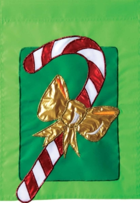 Candy Cane Bow - Standard Applique Flag by Toland