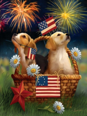 Large Format Jigsaw Puzzles - Yankee Doodle Pups