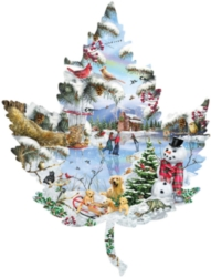 Shaped Jigsaw Puzzles - Winter on the Lake