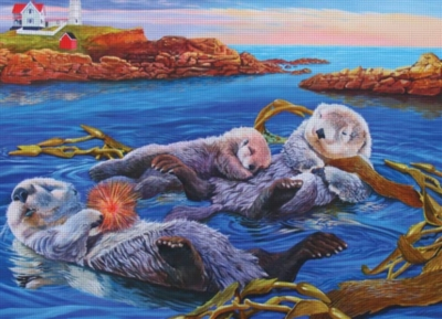 Cobble Hill Jigsaw Puzzles - Sea Otter Family