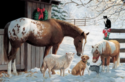 Cobble Hill Children's Puzzles - Barnyard Greetings