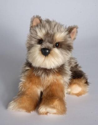 """Yettie Yorkie - 12"""" Dog By Douglas Cuddle Toy"""