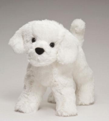 """Dandelion Puff Bichon - 8"""" Dog By Douglas Cuddle Toy"""