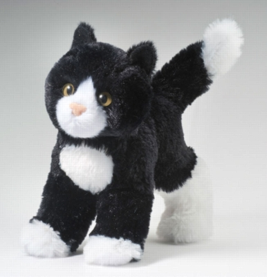 """Snippy Black and White - 8"""" Cat By Douglas Cuddle Toy"""