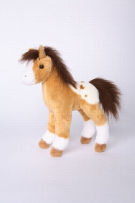 "Freckles Golden Appaloosa Foal - 10"" Horse By Douglas Cuddle Toy"