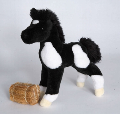 "Runner Black & White Paint Foal - 10"" Horse By Douglas Cuddle Toy"