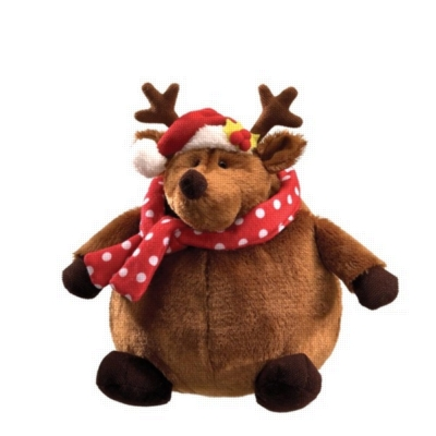 "Rolly Polly Reindeer - 9"" Christmas By Gund"