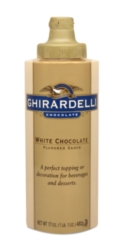 Ghirardelli Classic White Chocolate Sauce - 12 fl. oz. Squeeze Bottle Case