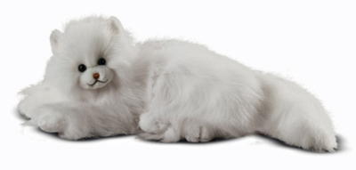 "Flossie White Cat - 18"" Cat by Melissa & Doug"