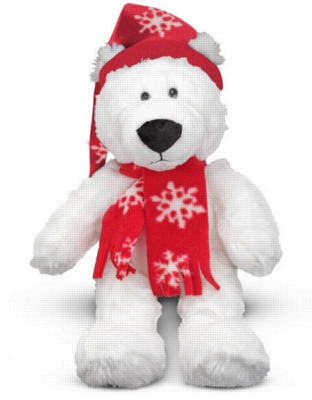 """Chilly Polar Bear - 10"""" Bear by Melissa & Doug"""
