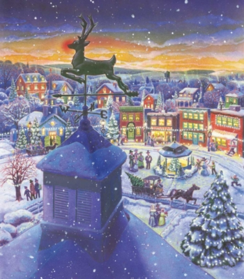 An Old Fashioned Town - 300pc Large Format Jigsaw Puzzle by Sunsout